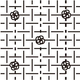 パイル+平織りイラスト